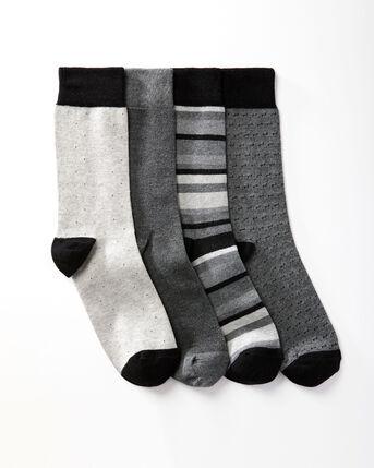 4 Pack Comfort Top Formal Socks