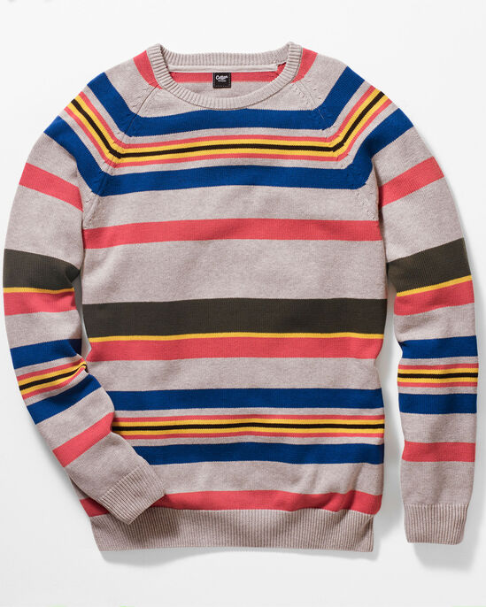 Stripe Cotton Crew Neck Jumper