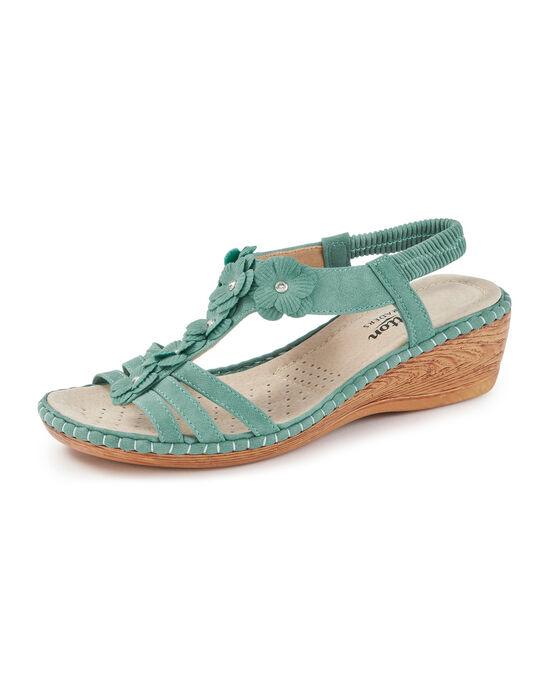T-Bar Flower Sandals