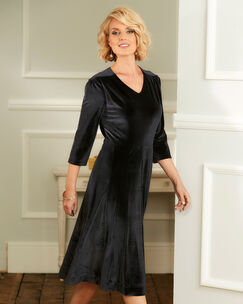 Tummy Control Velour Dress