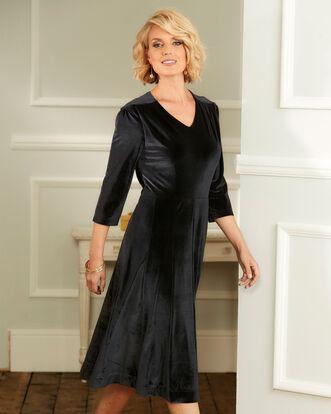 Tummy Control Velour Midi Dress
