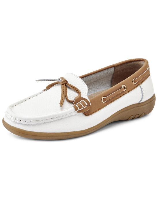 Leather Flexisole Bow Loafers