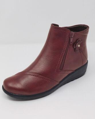 Flexisole Flower Detail Ankle Boots