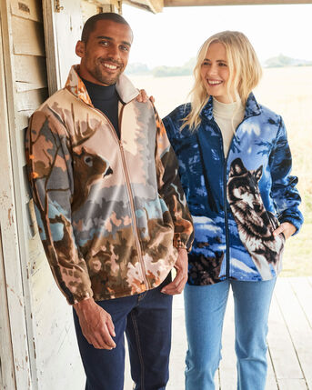 Animal Fleece Jacket