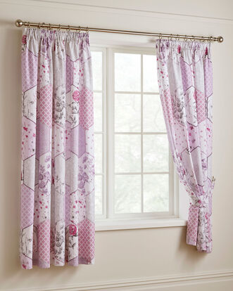 "Cassandra Pencil Pleat Curtains 66x72"""