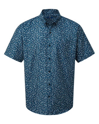 Ditsy Print Short Sleeve Soft Touch Shirt