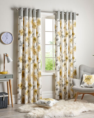 Poppy Eyelet Curtains 46X54""