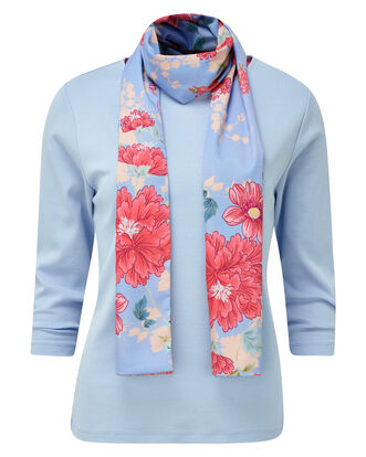 Jersey Top and Woven Scarf