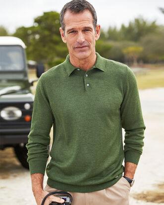 Luxury Long Sleeve Polo Top