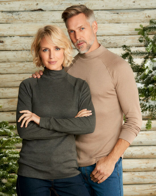 Long Sleeve Marl Turtle Neck Top