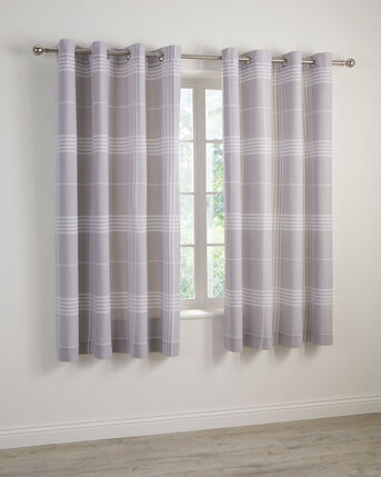 Clarke Check Eyelet Curtains 66x72""
