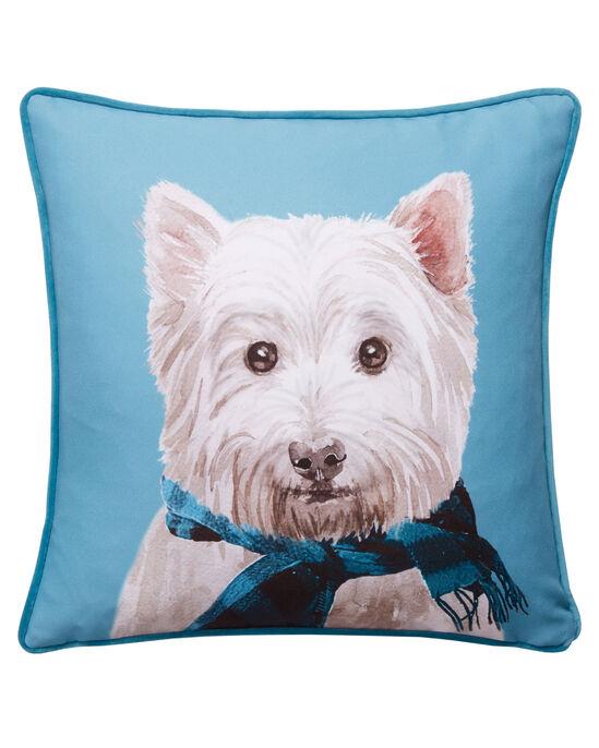 Dog With Scarf Cushion