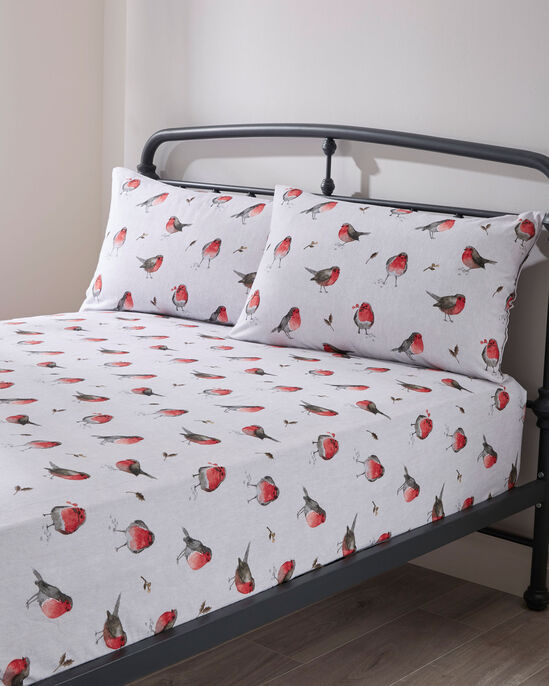 Robin Tartan Brushed Cotton Fitted Sheet and Pillowcase Set