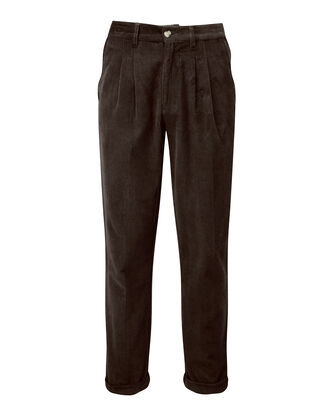 Cord Pleat Front Trouser