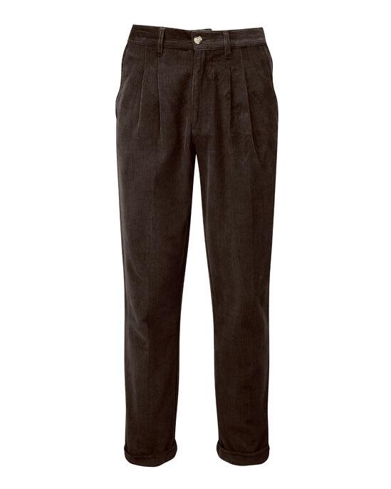 Cord Pleat Front Trouser