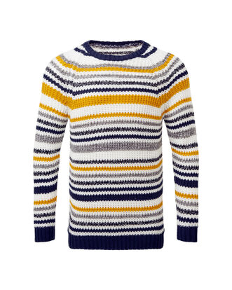 Stripe Supersoft Crew Neck Jumper