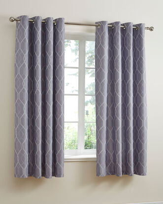 Cantello Jacquard Eyelet Curtains 66x72""