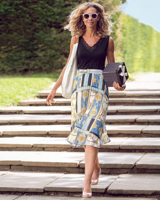 Swish Pleated Midi Skirt