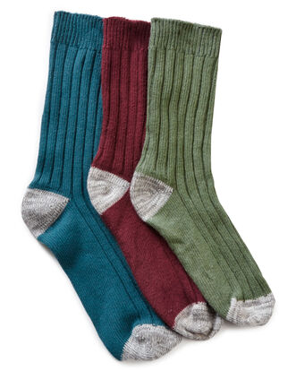 3 Pack Ribbed Walking Socks