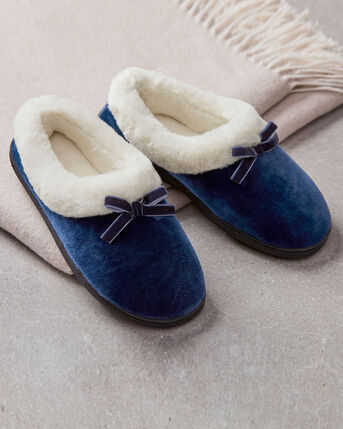 Fur Lined Bow Slippers