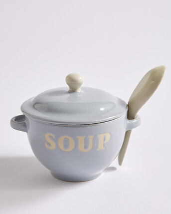 Soup Bowl and Spoon