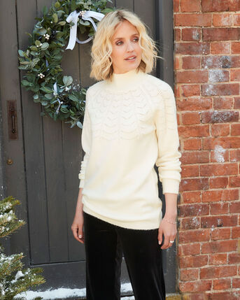 Pretty Pointelle Knitted Tunic