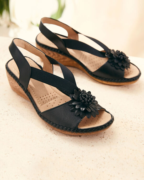 Elasticated Flower Sandals