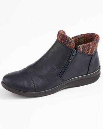 Flexisole Knitted Collar Ankle Boots