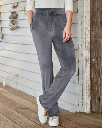 Laidback Velour Straight Leg Trousers