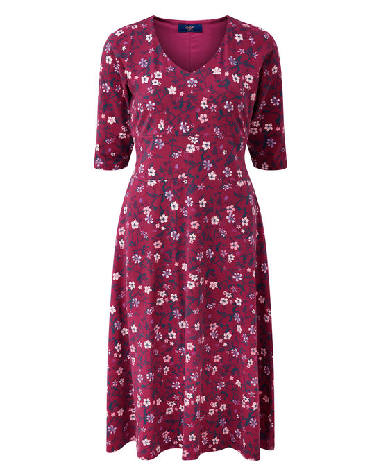 Tummy Control Floral Midi Dress
