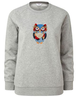 Embroidered Owl Sweatshirt