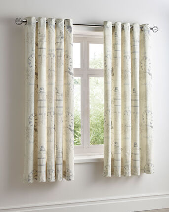 Birdcage Eyelet Curtains 66X72""