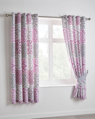 Verona Eyelet Curtains 66x72""