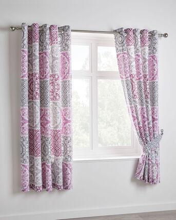 "Verona Eyelet Curtains 66x72"""