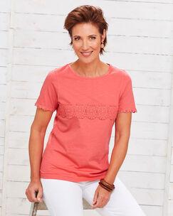 Crochet Detail T-Shirt