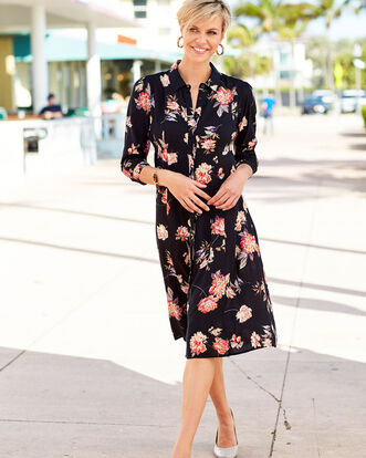 Floral Frockstar Button-through Dress