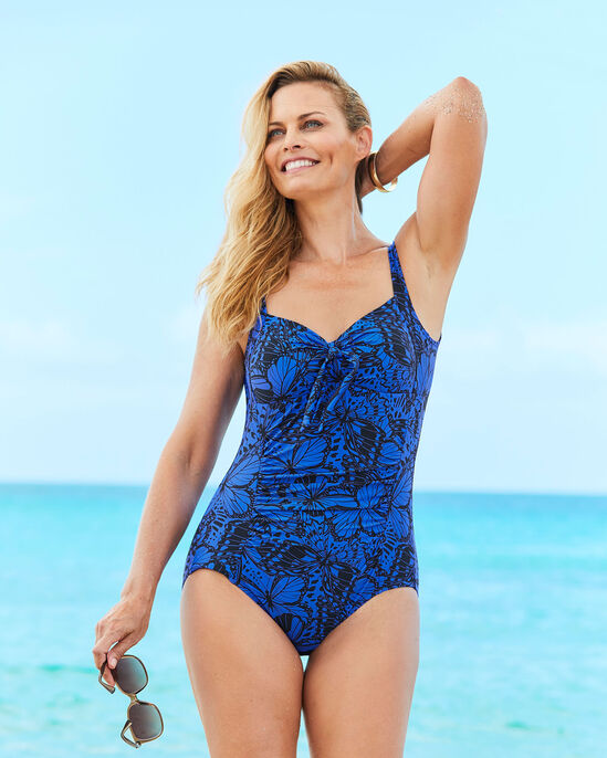 Tummy Control Ruched Knot Detail Swimsuit