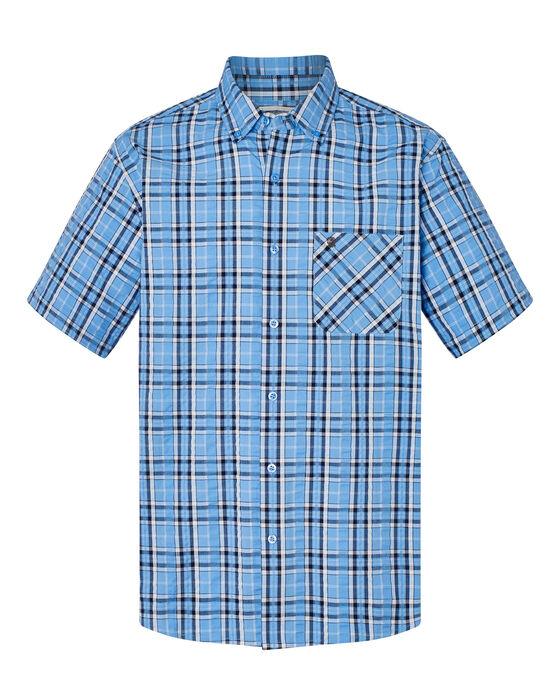 Short Sleeve Seersucker Check Shirt