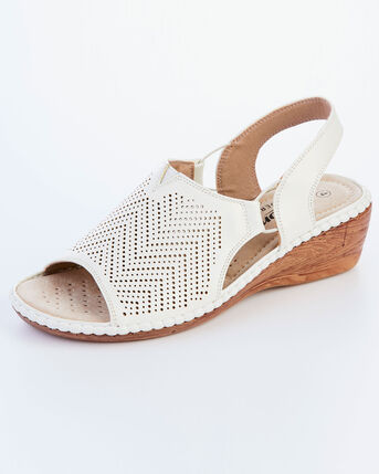 Cutwork Detail Sandals