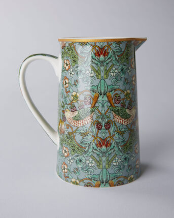 William Morris Strawberry Thief Ceramic Jug