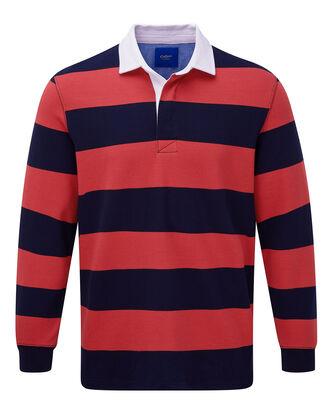 Blood Orange Long Sleeve Stripe Rugby Shirt