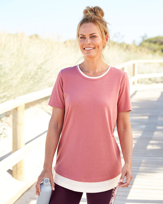 Active Mock Hem Top