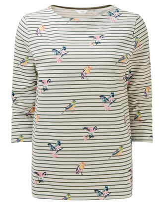 Bird Print Stripe Top