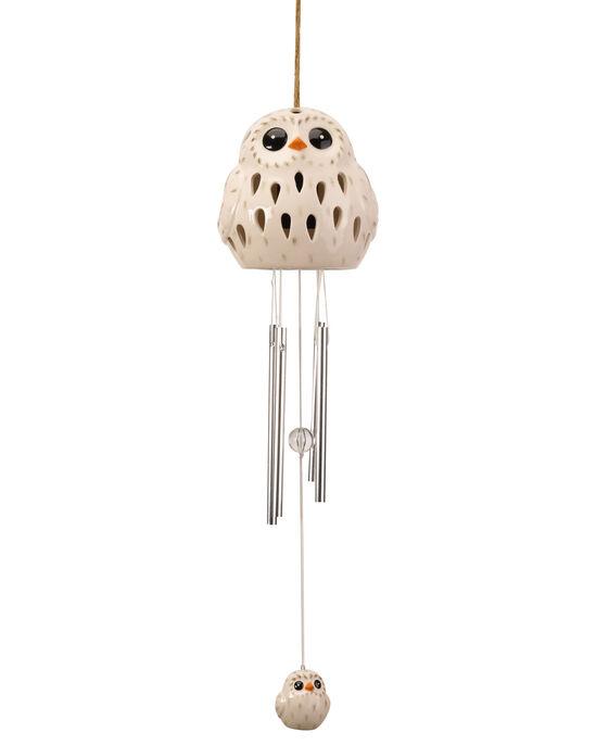 Solar Owl Windchime