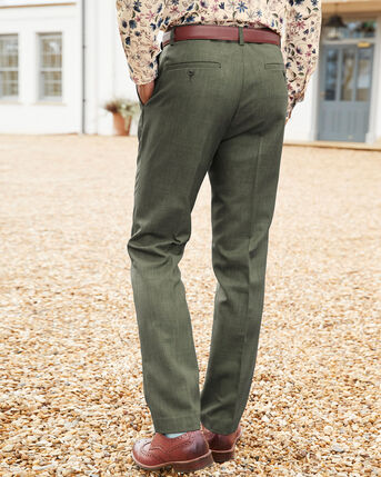 Flat Front Supreme Easy Care Trousers