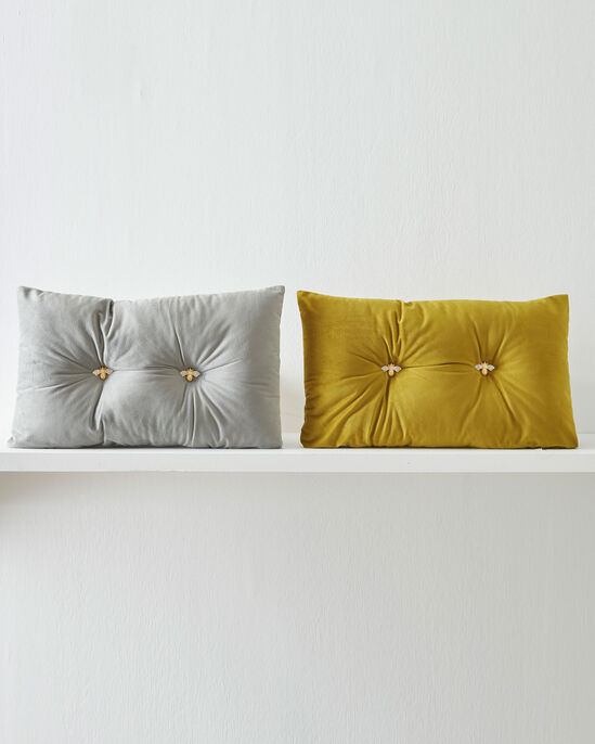 Bee Button Scatter Cushion