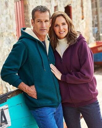 Soft Fleece Lined Jersey Jacket