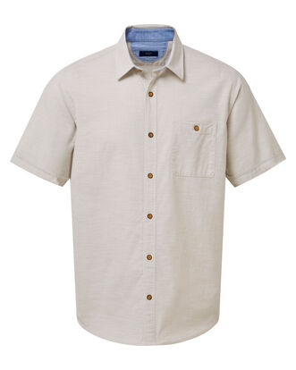 Short Sleeve Linen Look Shirt