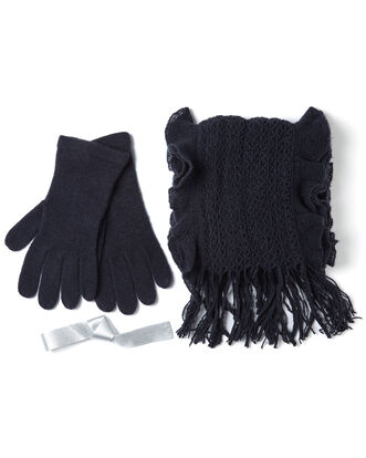 Ruffle Scarf and Glove Set