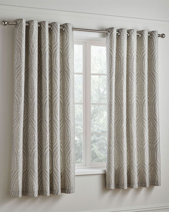 Erin 200TC Cotton Eyelet Curtains 66x72""